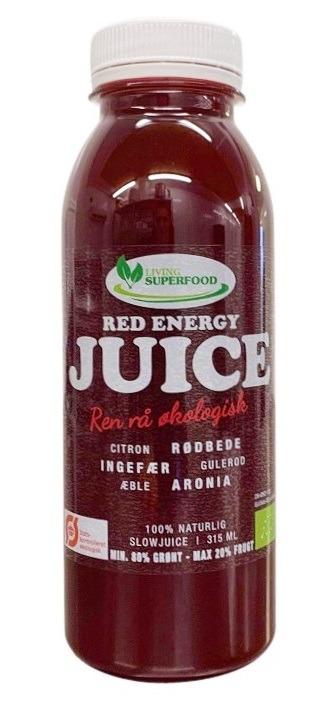 Rødbede juice - Red Energy 315ml. ØKO