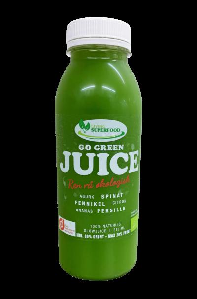 Go green Slowjuice min. 80% Grønt og Max. 20% Frugt