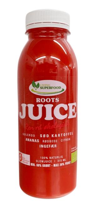 Roots Juice koldpresset, indgår i vores juicekure